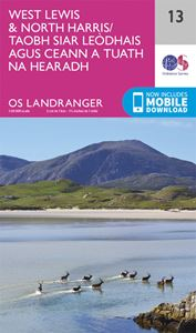 LANDRANGER 13: WEST LEWIS AND NORTH HARRIS