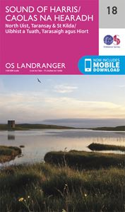 LANDRANGER 18: SOUND OF HARRIS NORTH UIST TARANSAY AND ST KI
