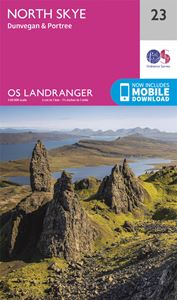 LANDRANGER 23: NORTH SKYE DUNVEGAN AND PORTREE