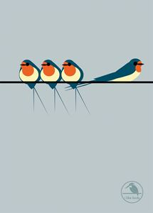 I LIKE BIRDS: SWALLOWS ON A LINE NOTEBOOK