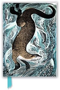 ANGELA HARDING FISHING OTTER FOILED JOURNAL