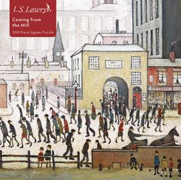 L S LOWRY COMING FROM THE MILL JIGSAW PUZZLE