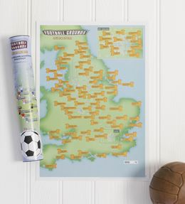 FOOTBALL GROUNDS COLLECT AND SCRATCH (PRINT/MAP)