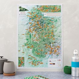 PEAK DISTRICT ROCK CLIMBS COLLECT AND SCRATCH (PRINT / MAP)