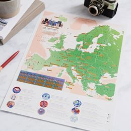 EUROPEAN CITY BREAKS COLLECT AND SCRATCH (PRINT / MAP)