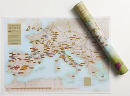 EUROPEAN WINE COLLECT AND SCRATCH (PRINT/MAP)