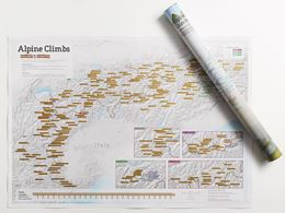 ALPINE CLIMBS COLLECT AND SCRATCH (PRINT/MAP)