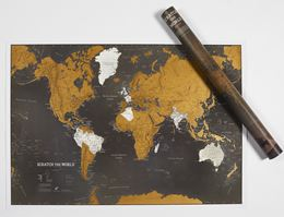 SCRATCH THE WORLD MAP PRINT BLACK EDITION