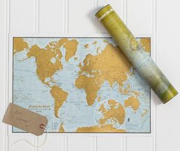TRAVEL SCRATCH THE WORLD MAP PRINT