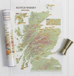 SCOTCH WHISKY COLLECT AND SCRATCH (PRINT / MAP)