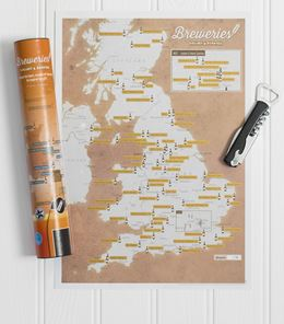 BREWERIES COLLECT AND SCRATCH (PRINT/MAP)