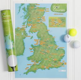 GOLF COURSES COLLECT AND SCRATCH (PRINT/MAP)